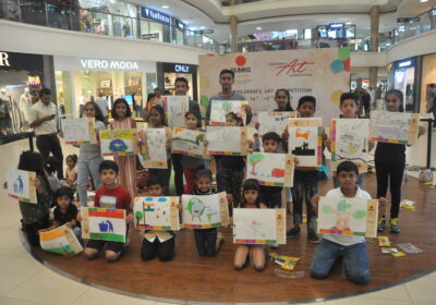 """Children's Art Competition was held at VR Surat, Dumas Road with the theme """"Sustainability"""""""