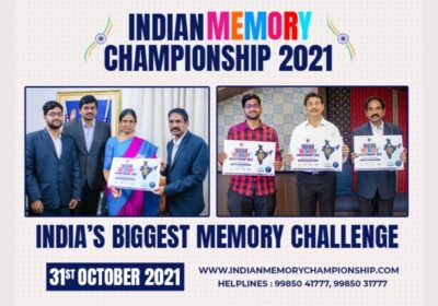 Indian National Memory Championship 2021, Education Minister of Telangana Releases the Poster